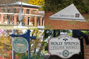 Cary, Apex, Morrisville and Holly Springs
